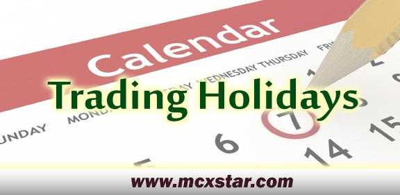 Trading holiday of mcx 2020